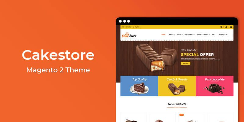 Cakestore - Cake & Bakery Store Magento 2 Theme