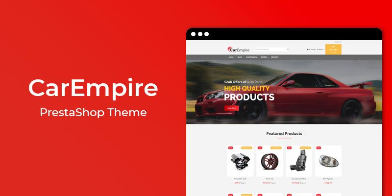 CarEmpire - Auto Parts Responsive PrestaShop Theme