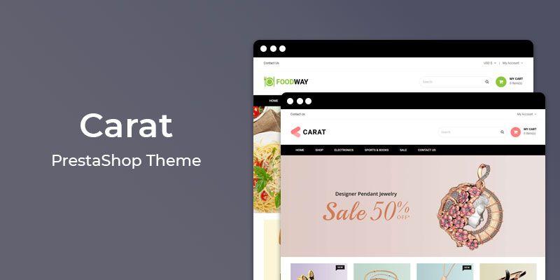 Carat - Jewelry Store Responsive Prestashop Theme