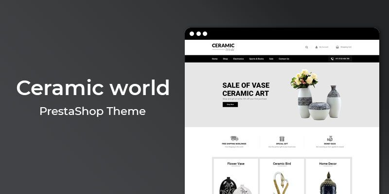 Ceramic world - Responsive Prestashop Theme