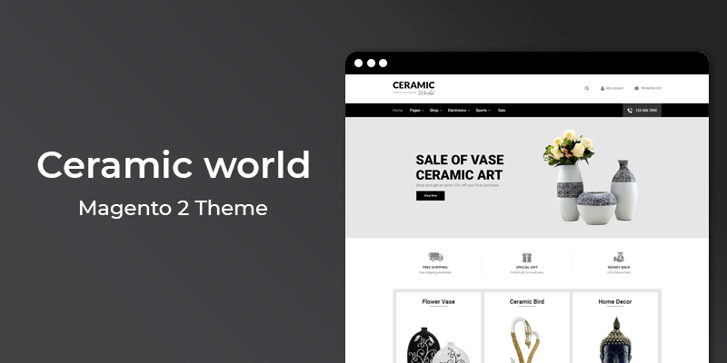 Ceramic World – Multipurpose Responsive Magento 2 Theme