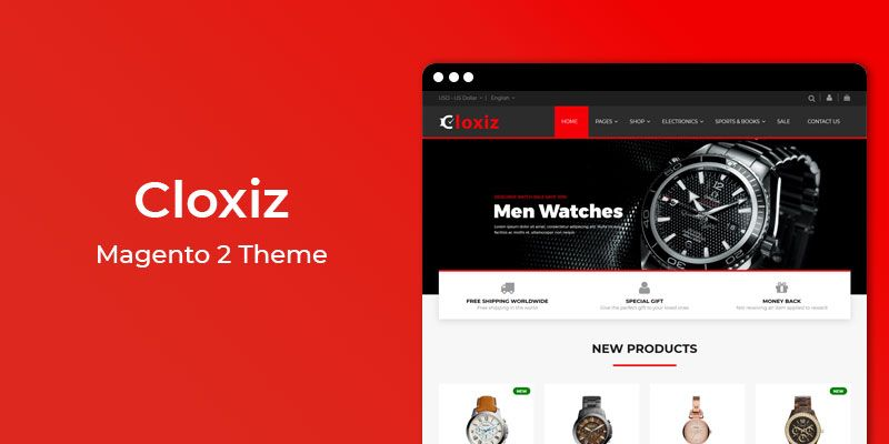 Cloxiz - MultiPurpose Responsive Magento 2 Theme