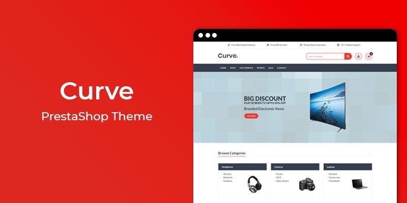 Curve - Electronics Store Responsive Prestashop Theme