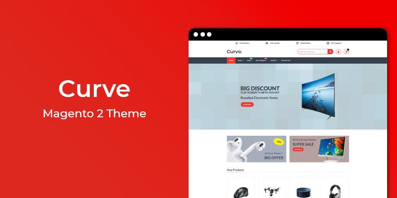 Curve - Online Electronics Magento 2 Theme