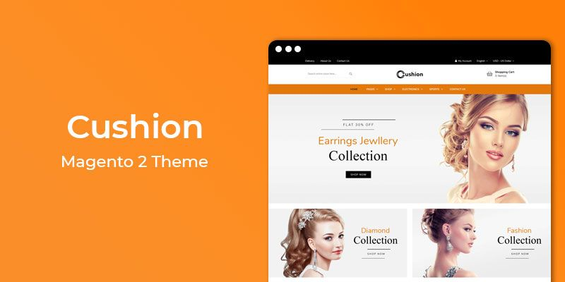 Cushion - Jewelry Store Responsive Magento 2 Theme