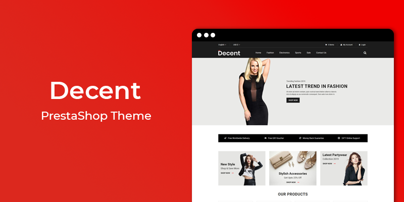 Decent - Fashion Responsive Prestashop Theme