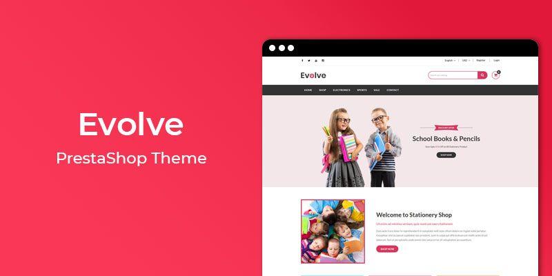 Evolve – Stationery Store Responsive PrestaShop Theme