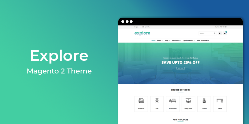 Explore - Furniture Store Responsive Magento 2 Theme