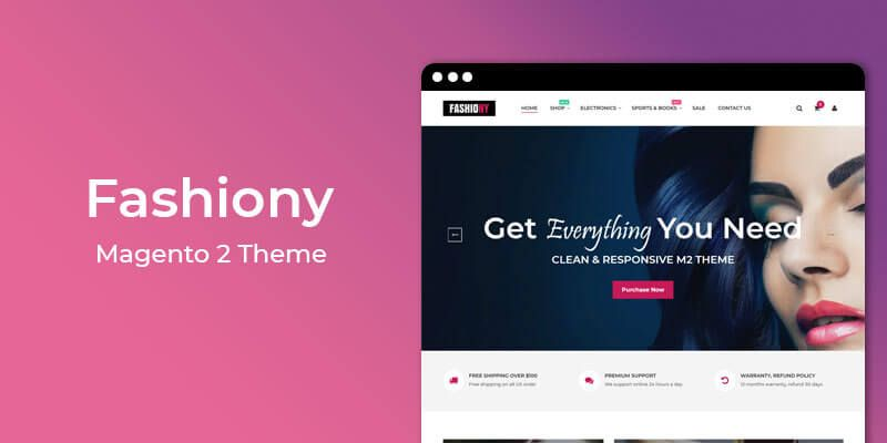 Fashiony - MultiPurpose Responsive Magento 2 Theme