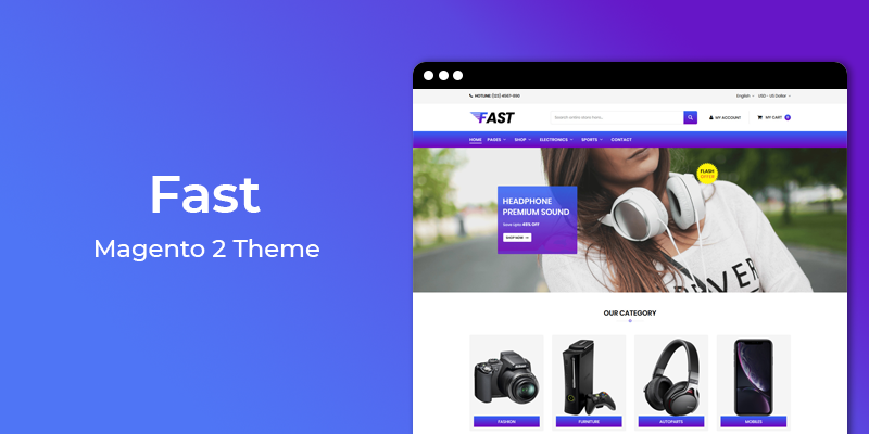Fast - Responsive Electronics Magento 2 Theme