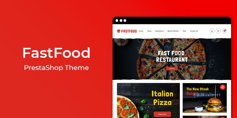 FastFood - Restaurant & Online Food Store  Prestashop Theme