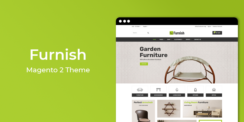 Furnish - Furniture Store Responsive Magento 2 Theme