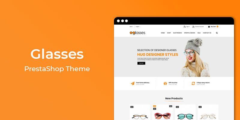Glasses - MultiPurpose Responsive Prestashop Theme