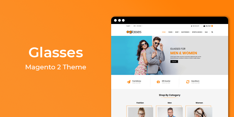 Glasses - Responsive  Magento 2 Theme