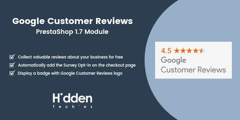 Google Customer Reviews - Prestashop Module