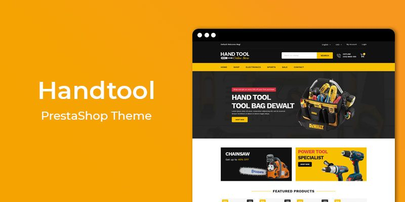 Hand Tool - Tools & Hardware Responsive Prestashop Theme