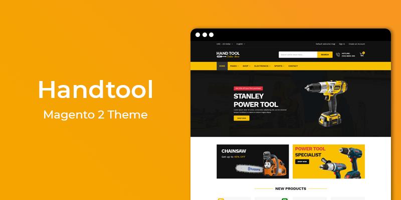 HandTool - Tools & Hardware Responsive Magento 2 Theme
