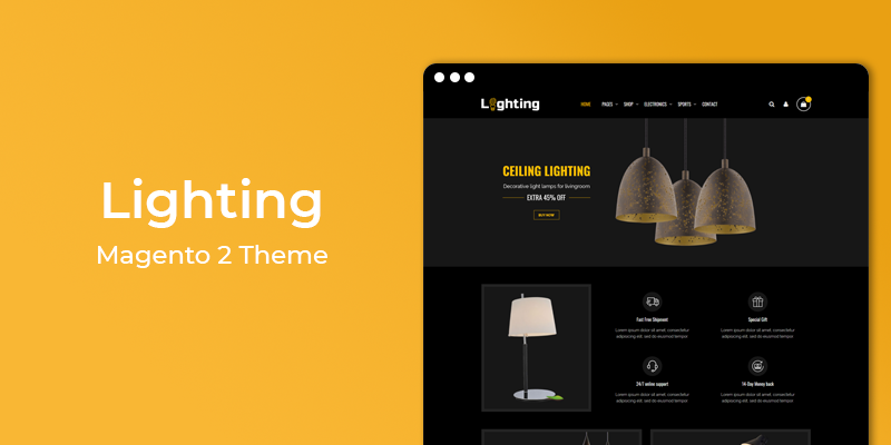 Lighting - Responsive Electronics Magento 2 Theme