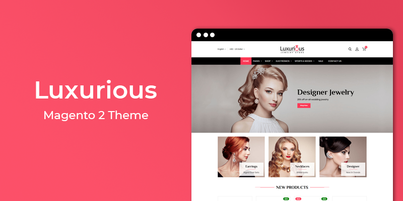 Luxurious - Jewelry Store Responsive Magento 2 Theme