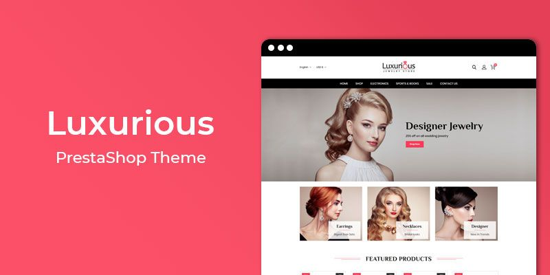 Luxurious - Jewelry Store Responsive Prestashop Theme