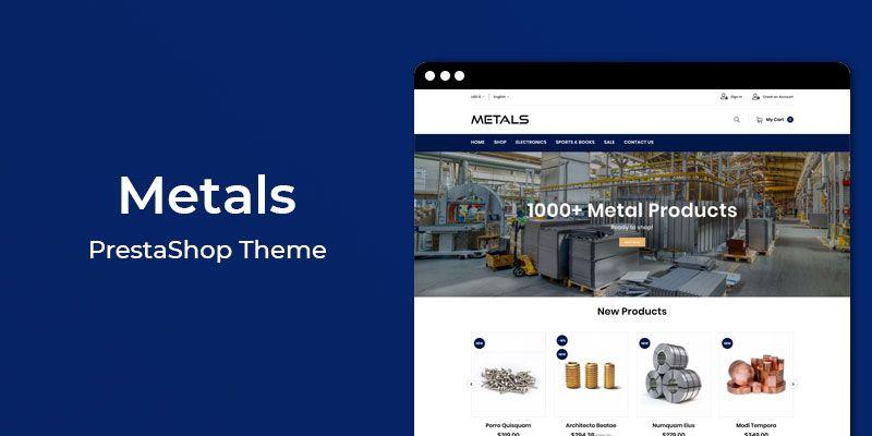 Metals - Metals & Hardware Responsive Prestashop Theme