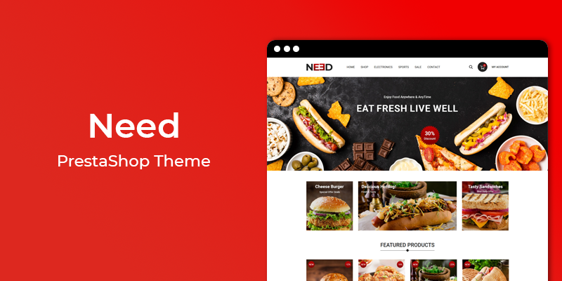 Need - Restaurant & Online Food Store Prestashop Theme
