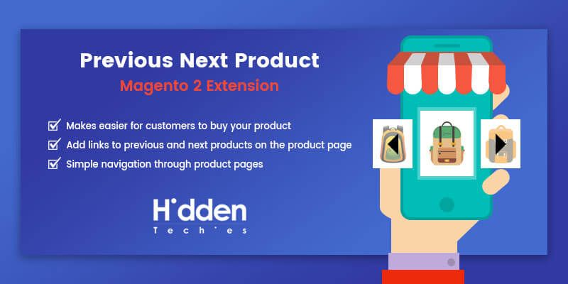 Previous Next Product Links - Magento 2 Extension