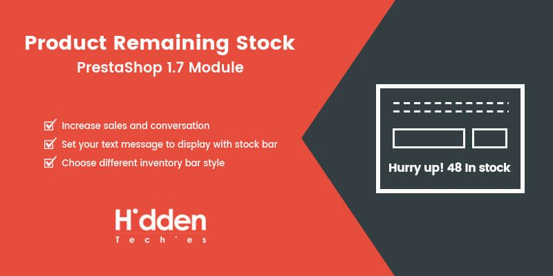 Product Remaining Stock Prestashop Module