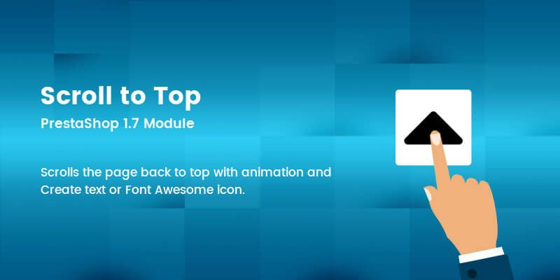 Scroll to Top - Prestashop Module