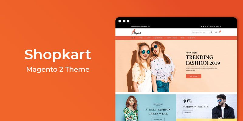 Shopkart - MultiPurpose Fashion Magento 2 Theme