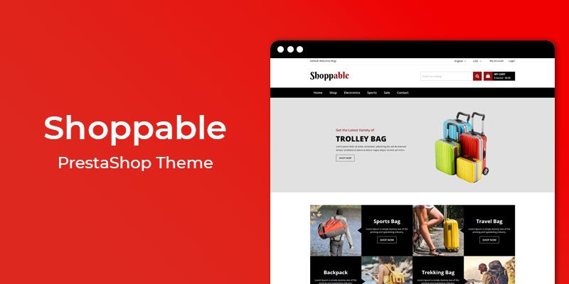 Shoppable – Accessories Store Responsive PrestaShop Theme