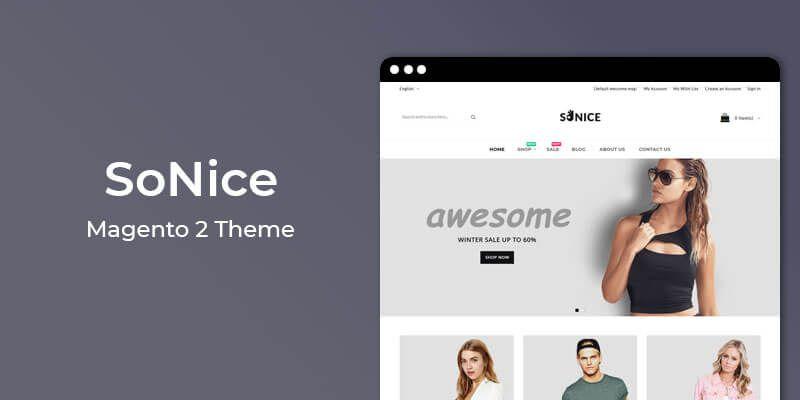 SoNice - Responsive Fashion Magento 2 Theme