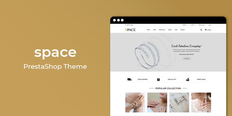 Space - Jewelry Store Responsive Prestashop Theme