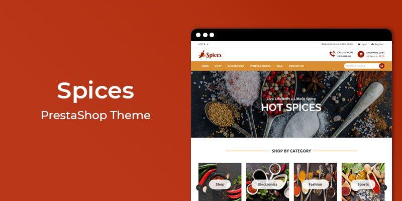 Spices - Online Spice Store Prestashop Theme