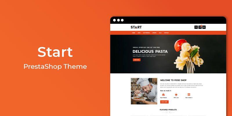 Start - Restaurant & Online Food Store  Prestashop Theme