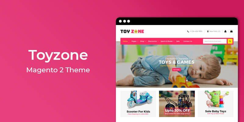 Toyzone - Kids Fashion & Toys Responsive Magento 2 Theme