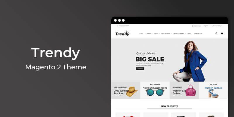 Trendy - MultiPurpose Responsive Magento 2 Theme