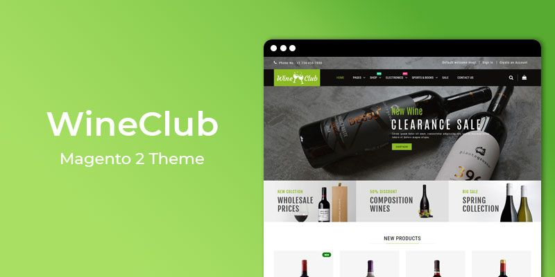 WineClub - Wine Shop Responsive Magento 2 Theme