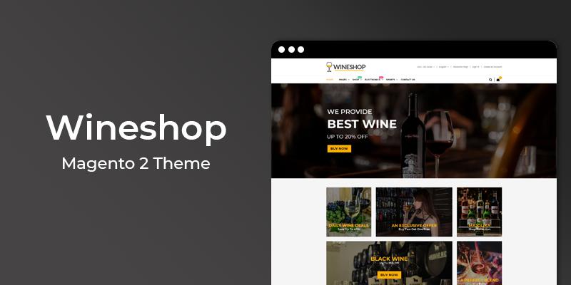 Wineshop - Online Wine Shop Magento 2 Theme