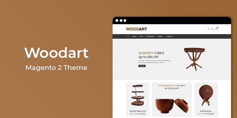 WoodArt - Furniture Store Responsive Magento 2 Theme