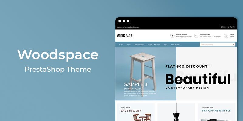 WoodSpace - Responsive Furniture Prestashop Theme