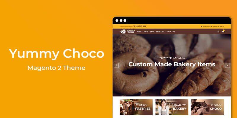 Yummy Choco - Cake & Bakery Store Magento 2 Theme