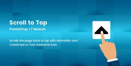 Scroll to Top - Prestashop Module