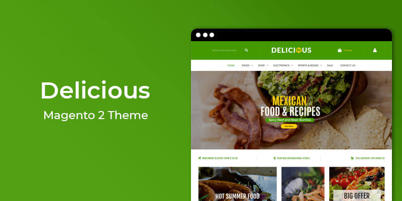 Delicious - Restaurant & Online Food Store Magento 2 Theme