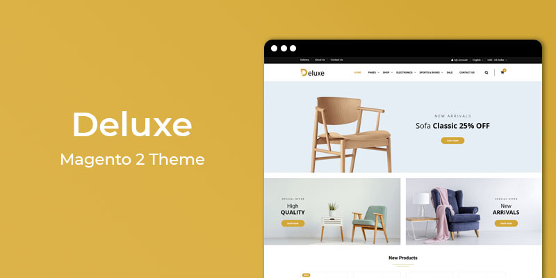 Deluxe - Furniture Store Responsive Magento 2 Theme