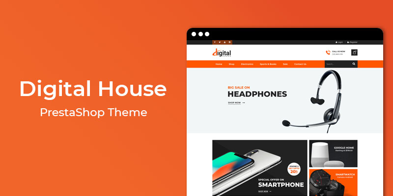 Digital House - MultiPurpose Responsive Prestashop Theme