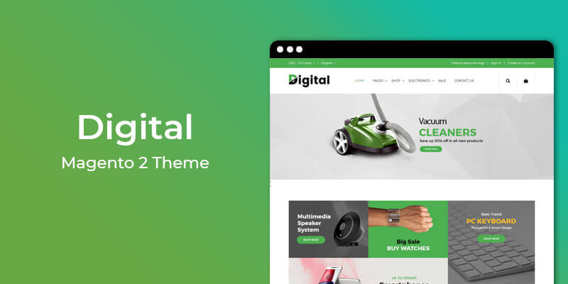 Digital - Premium Electronics Magento 2 Theme