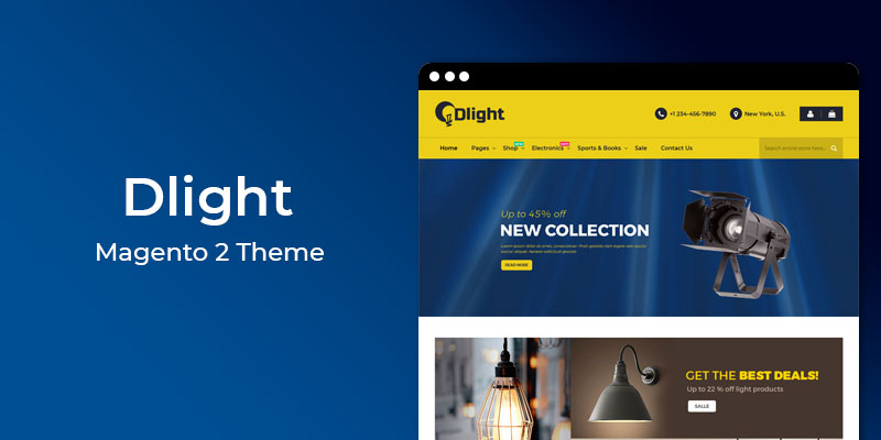 Dlight - Responsive Electronics Magento 2 Theme