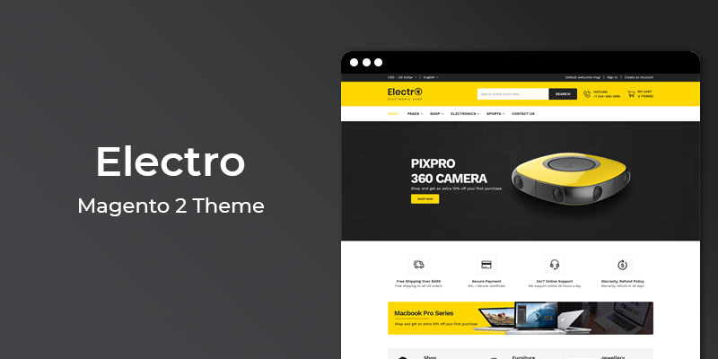 Electro - Responsive Electronics Magento 2 Theme
