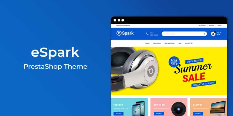 eSpark - MultiPurpose Responsive Prestashop Theme